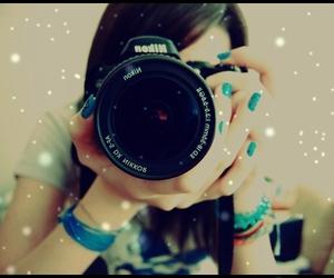 girl, camera, and nikon image
