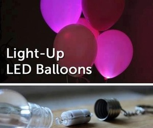 diy, balloons, and light image