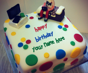 mynamepix, write name on cakes, and birthday cake for boys image