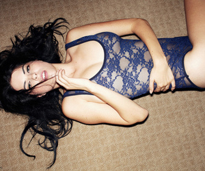 blue, girl, and lace image