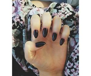 nails, black, and tumblr image
