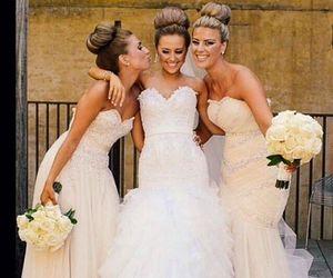 wedding, bridesmaid, and sisters image