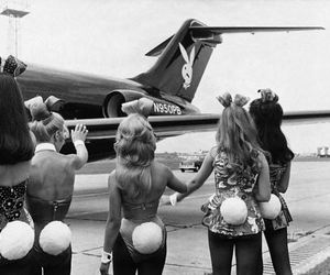 airplane, girl, and bonny image