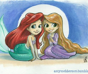 ariel, rapunzel, and princess image