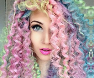 hair, colors, and green image