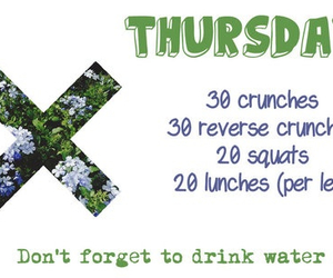 workout, fitness, and thursday image