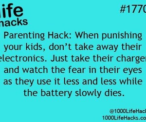 battery, kids, and life hack image