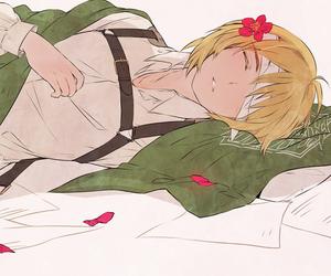 sleeping beauty, anime boy, and armin arlert image