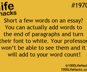 essay, Paper, and life hacks image