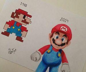 drawing and mario image