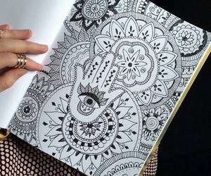 drawing, art, and black and white image