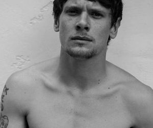 skins, jack o'connell, and black and white image