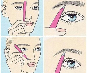 eyebrows, beauty, and makeup image