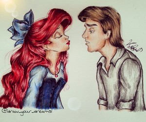 ariel, drawing, and follow image
