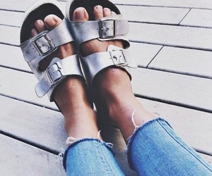 hipster style, silver sandals, and indie boho fashion image