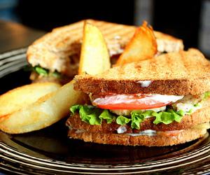 food, sandwich, and yummy image