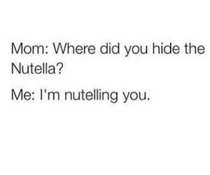 nutella, funny, and lol image