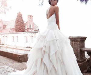 wedding, wedding dress, and bridal image