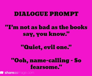 dialogue and writing image