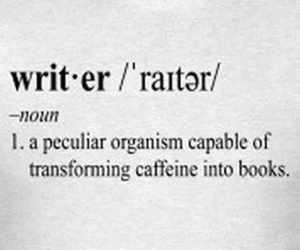 book, writer, and caffeine image