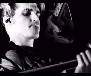 black and white, guitar, and mikey way image