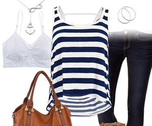 blue, fashion, and nautical image