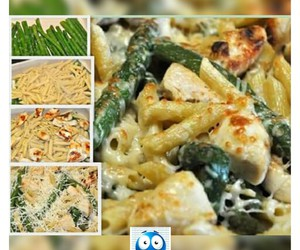 asparagus, Chicken, and food image