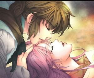 anime, anime couple, and asleep image