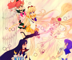 sailor moon, luna, and sailor mars image