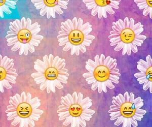 wallpaper, flowers, and emoji image