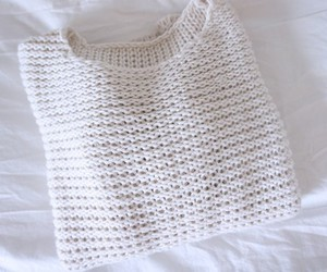 white, fashion, and sweater image