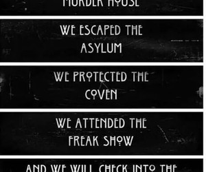 asylum, coven, and freak show image