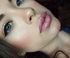 blush, girl, and eyes image