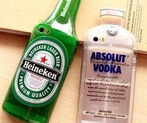 iphone, vodka, and heineken image