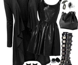 girl, goth, and outfit image