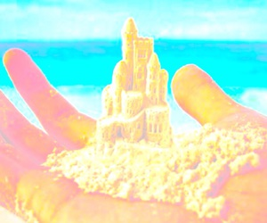 beach, filter, and castle image