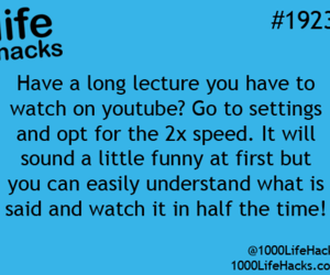 lecture, lectures, and life hacks image