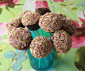 chocolate, sweet, and cakepops image