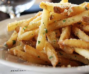 food, fries, and delicious image