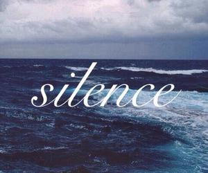 sad, silence, and tears image
