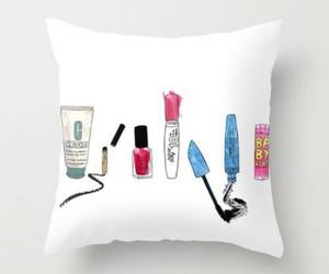 pillow and make-up image