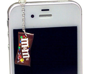chocolate, iphone, and m&ms image