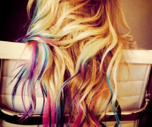 blue, pink, and hair color image