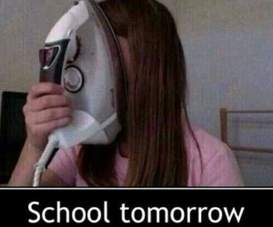 school, funny, and tomorrow image