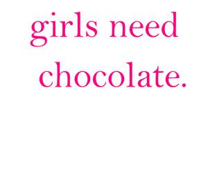 chocolate, girl, and pink image