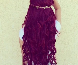 hair, red, and purple image