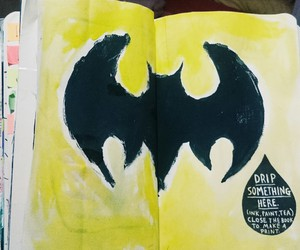 batman, wreck this journal, and drip image