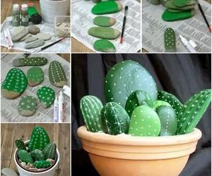 diy, cactus, and stone image