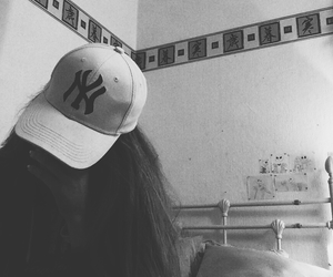 black, cap, and girl image