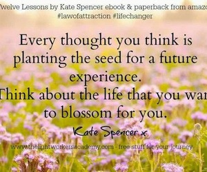future, law of attraction, and planting image